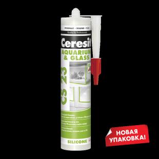 Ceresit CS 23 Церезит Силиконовый герметик для стекла и аквариумов