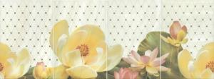 Панно настенное Летний сад Панно фисташковый (из 4-х плиток)