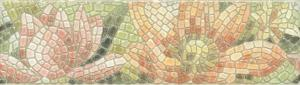 Бордюр настенный Летний сад Бордюр Лилии лаппатированный 5,7х20