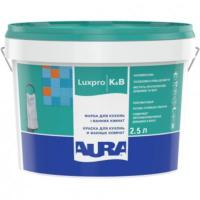Краска ВД AURA Luxpro Kitchen & Bathroom для кухонь/ванных комнат полумат.9 л