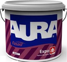 Краска ВД AURA Fasad Expo матовая фасадная основа TR 9 л