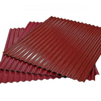 Гофрированный лист (гофролист) С15 RAL 3005 винно-красный 0.45 мм