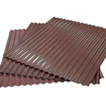 Гофрированный лист (гофролист) С15 RAL 8017 шоколадно-коричневый 0.45 мм