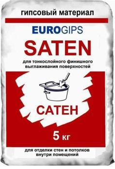 Шпаклевка EUROGIPS Saten финишная 5 кг