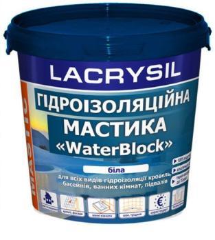 Мастика LACRYSIL гидроизоляционная акриловая суперэластичная 4,5 кг.