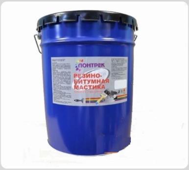 Мастика ЛОНТРЕК Резино-битумная 16 кг