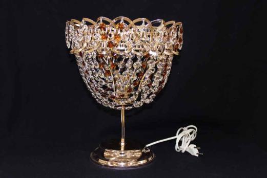 Настольная Лампа Катерина Роза цветная.(коричнвая)