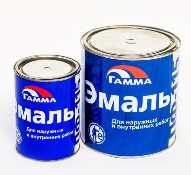 Краска ГАММА Эмаль ПФ-115 (для наружных и внутренних работ) чёрная 0.8кг