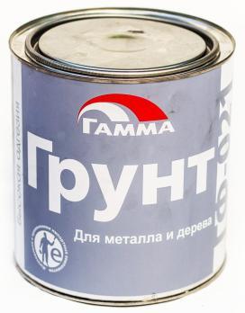 Грунт ГФ-021 (для металла и дерева) красно-коричневый 1кг