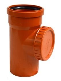 Ревизия д/наружной канализации с крышкой 110 (Политек)
