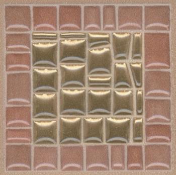 Декор настенный Виченца Вставка Золото 4,9х4,9 AD\B312\5246