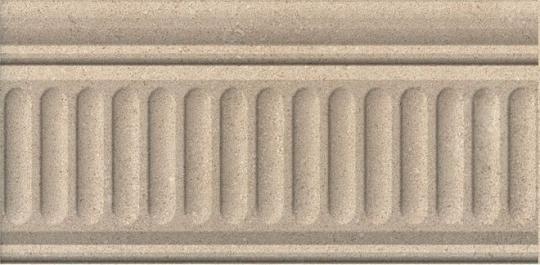 Бордюр настенный Золотой пляж Бордюр тёмный беж структурированный