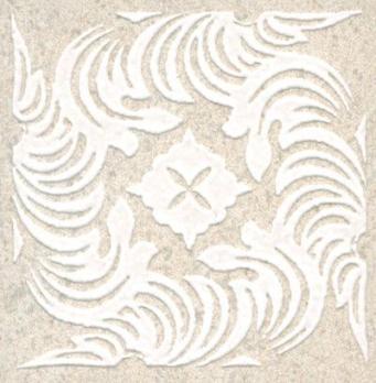 Декор напольный Золотой пляж Вставка светлый беж