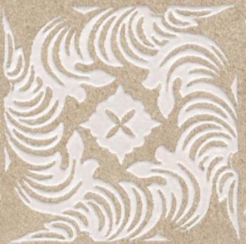 Декор напольный Золотой пляж Вставка темный беж