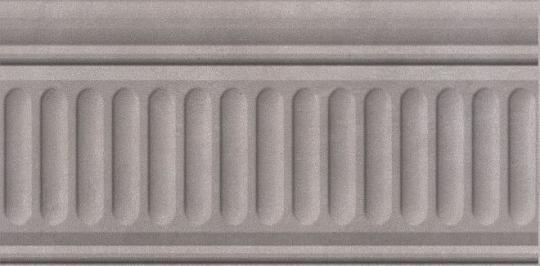 Бордюр настенный Александрия Бордюр серый структурированный 9,9х20