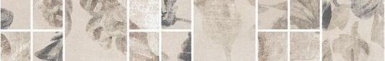 Бордюр настенный Александрия Бордюр светлый мозаичный 4,8х30