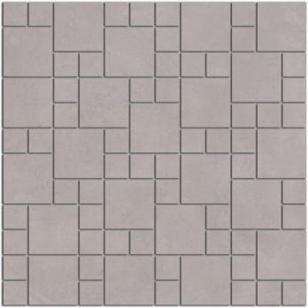 Декор напольный Александрия Декор напольный мозаичный серый