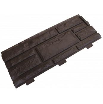 Панель фасадная Доломит Стандарт темно-коричневый 3000х220 мм