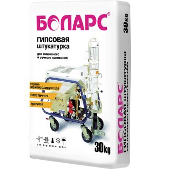 Штукатурка гипсовая Боларс 30 кг для механизированного нанесения