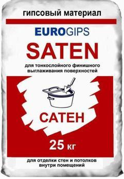Шпаклевка EUROGIPS Saten финишная 25 кг