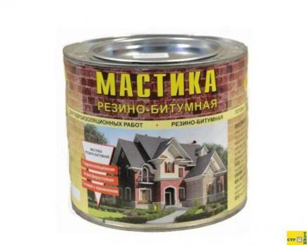 Мастика ЛОНТРЕК Резино-битумная 8 кг