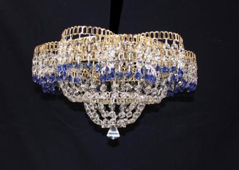 Лотос 1л с зеркалом цветной (синий)