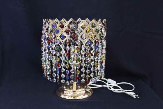 Настольная Лампа Корона разноцветная.